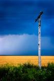 Linha eléctrica de madeira Imagem de Stock Royalty Free