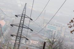 Linha eléctrica elétrica Imagem de Stock Royalty Free