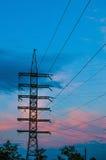 Linha eléctrica elétrica imagens de stock royalty free