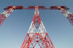 Linha eléctrica elétrica Fotos de Stock Royalty Free