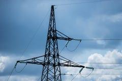 Linha eléctrica elétrica Fotografia de Stock Royalty Free