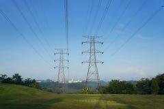 Linha elétrica Fotos de Stock