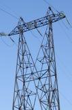 Linha elétrica de alta tensão Imagens de Stock Royalty Free