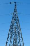 Linha elétrica de alta tensão Fotos de Stock