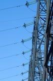 Linha elétrica de alta tensão Foto de Stock