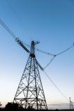 Linha elétrica de alta tensão Imagens de Stock