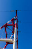 Linha elétrica de alta tensão Foto de Stock Royalty Free