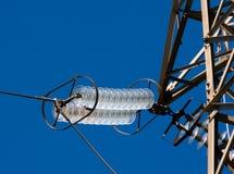Linha elétrica do isolador Foto de Stock Royalty Free