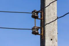 linha elétrica do isolador Fotografia de Stock Royalty Free