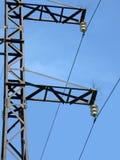 Linha elétrica pylone da potência, energia, Imagem de Stock Royalty Free