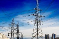 Linha eléctrica Foto de Stock Royalty Free