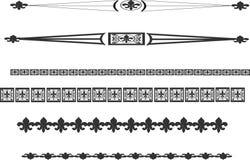 Linha elementos da flor de lis Imagens de Stock