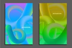 Linha eletrônica cartaz do inclinação da onda do verão do fest Fotos de Stock