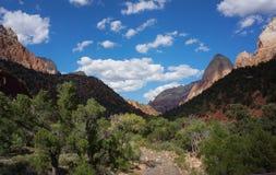 Linha elevada assoalho das montanhas do vale de Zion National Park Imagens de Stock Royalty Free