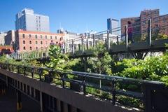 Linha elevada parque NYC Imagens de Stock