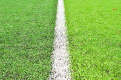 Linha em campos de futebol Foto de Stock