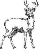 Linha ereta sumário do veado da arte ilustração royalty free
