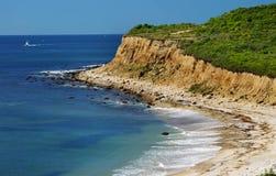Linha erosão da costa do Long Island Fotos de Stock