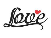 Linha escova da curva do amor Imagem de Stock Royalty Free