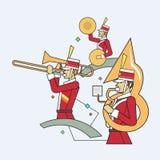 Linha estilo da faixa militar, ilustração do vetor Imagem de Stock