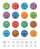 Linha estilo simples: Os ícones do negócio & do escritório ajustam-se - Vector a ilustração ilustração do vetor