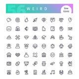 Linha estranha ícones ajustados Imagens de Stock
