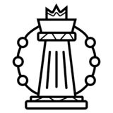 Linha estratégica ícone do plano ilustração stock
