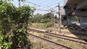 Linha ferroviária Fotos de Stock Royalty Free