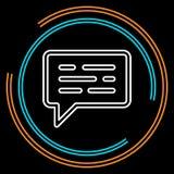 Linha fina ícone da mensagem simples do vetor ilustração do vetor