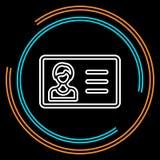 Linha fina ícone do cartão de identidade simples do vetor ilustração do vetor