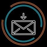 Linha fina ícone do correio simples do envelope do vetor ilustração royalty free