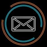 Linha fina ícone do correio simples do vetor ilustração royalty free