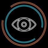 Linha fina ícone do olho simples do vetor ilustração stock