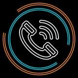 Linha fina ícone do telefonema simples do vetor ilustração stock