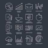 Linha fina ícones do mercado ajustados Fotografia de Stock Royalty Free