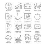 A linha fina ícones do mercado ajustou-se isolado no fundo branco Foto de Stock