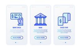 Linha fina ícones do relatório financeiro ilustração royalty free