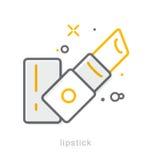 Linha fina ícones, batom Fotos de Stock