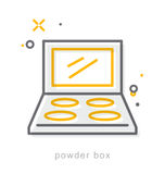 Linha fina ícones, caixa do pó Imagem de Stock