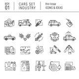 Linha fina indústria de carro no estilo moderno Imagem de Stock
