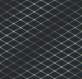 Linha fina isométrica teste padrão da geometria do ouro da textura ilustração stock