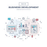 A linha fina moderna ícones do negócio ajustou-se do desenvolvimento de aplicações Foto de Stock Royalty Free