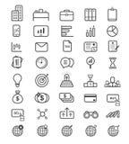 Linha fina vetor do conceito bem sucedido do negócio do ícone ilustração royalty free