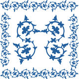 Linha fio barroco da beira do teste padrão Foto de Stock Royalty Free