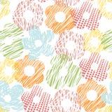 Linha floral e cercle do teste padrão Foto de Stock Royalty Free