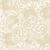 Linha floral luxuosa Art Vetora do ouro bonito Foto de Stock Royalty Free