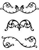 Linha floral réguas do rolo ilustração royalty free
