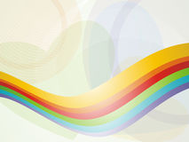 Linha fundo da onda do arco-íris fotos de stock royalty free