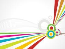 Linha fundo da onda do arco-íris com círculo Fotos de Stock