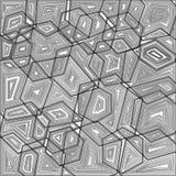 Linha fundo geométrico Ilustração Royalty Free